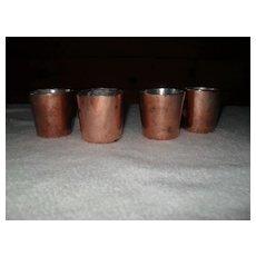 Antique Copper Darioles Mold Set of Four