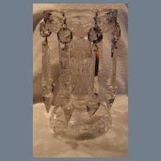 Vintage Crystal Candle Mantle Lustre with Prisms