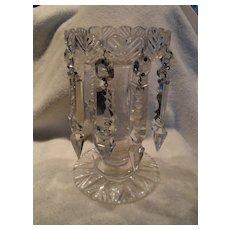 Vintage Brilliant Crystal Candle Mantle Lustre with Prisms