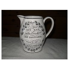Wedgwood Queensware Success to the Crooked Mottoware Jug
