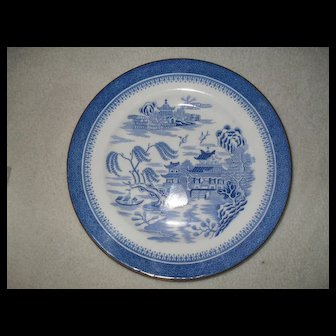 "Antique Copeland Spode Blue Willow Mandarin 8"" Plate 1327"