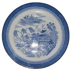 "Antique Copeland Spode Blue Willow Mandarin 8"" Plate 1327"
