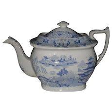 Antique Miles Mason Broseley Willow Teapot