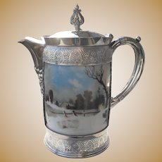 Rare Simpson Hall Miller Acanthus Silverplate Pitcher