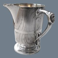 Rare Antique Fenton Brothers Sterling Silver Faux Bois Mug
