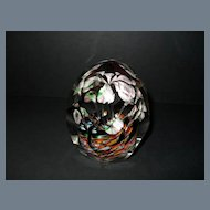 Antique Bohemian Six Lily Faceted Paperweight