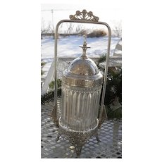 Ornate Reed and Barton Victorian Silverplate Pickle Castor