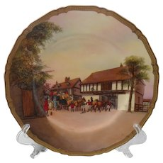 """Rare Royal Worcester Changing Horses Signed 10 1/2"""" Plate"""