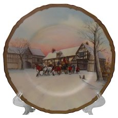 "Rare Royal Worcester The Arrival Signed 10 1/2"" Plate"