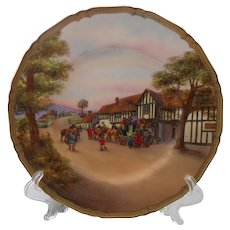 "Rare Royal Worcester The Royal Oak Signed 10 1/2"" Plate"