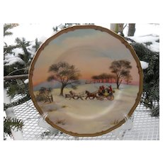 """Rare Royal Worcester The Open Gate Signed 10 1/2"""" Plate"""