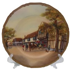 "Rare Royal Worcester Last Stage Signed 10 1/2"" Plate"