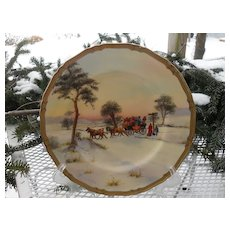 """Rare Royal Worcester Cross Road Signed 10 1/2"""" Plate"""