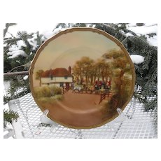 """Rare Royal Worcester The Toll Gate Signed 10 1/2"""" Plate"""