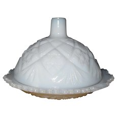 Westmoreland Milk Glass Childs Butter Dish Thumbelina