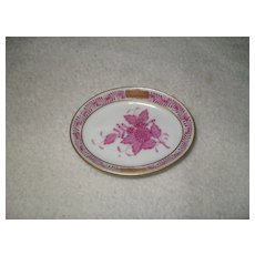 Herend Porcelain Raspberry Chinese Bouquet Dish 7782/AP