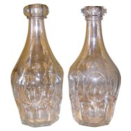 Pair Ashburton Clear Flint Glass Decanters
