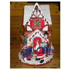 Christopher Radko St Nicholas Lane Cookie Jar Centerpiece Large Santa Claus