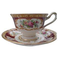 Royal Albert Lady Hamilton Avon Demitasse Cup/Saucer
