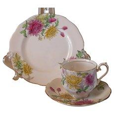 Vintage Royal Albert Flower of the Month Chrysanthemum Teacup Trio
