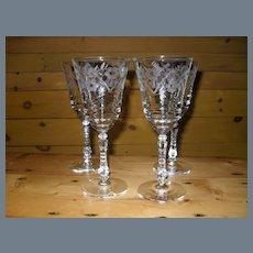 Four Libbey Rock Sharpe Halifax Water Wine Glass 3005-13