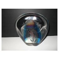 Baker Labino Studio Contemporary Paperweight 1990