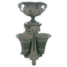 Antique Minton Celadon Pate Sur Pate Vase