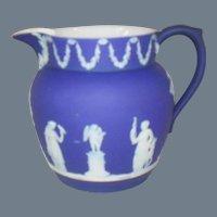 Antique Wedgwood Blue Dip Jasperware Pitcher