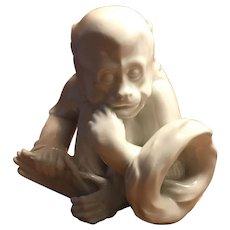 Royal Vienna Augarten Sitting Monkey Figurine