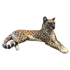 Nymphenburg Recumbent Leopard Porcelain Figurine