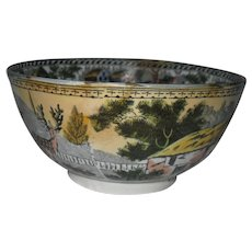 Antique Staffordshire Salopian Pearlware Waste Bowl