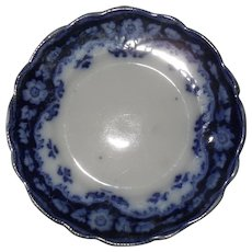 "Early Myott Crumlin Flow Blue 9 1/8"" Plate"