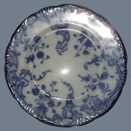 Early WH Grindley Flow Blue MARIE Bread Plate