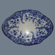 Early WH Grindley Flow Blue MARIE Small Platter