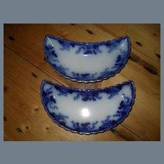 Burgess & Campbell Flow Blue Crescent Salad Plate
