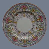 """4 Royal Worcester Plates 9 1/2"""" Urns Multicolor Roses Flowers"""