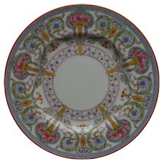 """12 Royal Worcester Plates 8 1/8"""" Urns Multicolor Roses Flowers"""