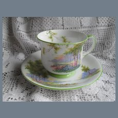 Vintage Aynsley Birch Trees Teacup and Saucer