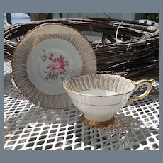 Royal Stafford Pink Rose Teacup and Saucer 85054