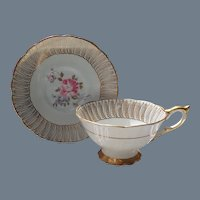 Royal Stafford Pink Rose Teacup and Saucer 85054