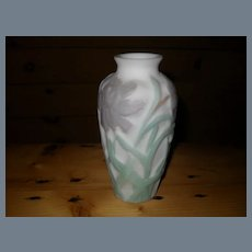 Consolidated Glass Purple Peony Vase