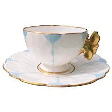 Aynsley Butterfly Handle Teacup and Saucer B1205