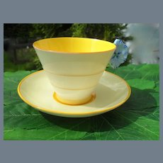 Royal Paragon Blue Pansy Handle Teacup and Saucer