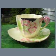 Paragon Crocus Handle Geranium Teacup and Saucer