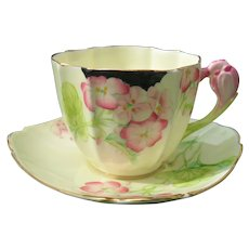 Paragon Crocus Handle Geranium Teacup and Saucer