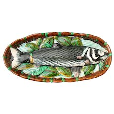 Early Minton Majolica Fish Platter