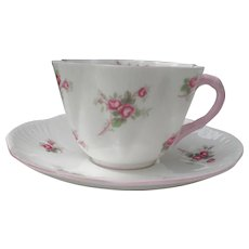 Shelley Dainty Bridal Rose Teacup and Saucer 13545