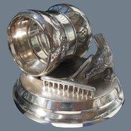 Antique Figural Silver-plate Chicken Napkin Ring