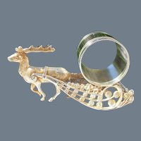 Antique Toronto Silver Plate Co Reindeer Napkin Ring