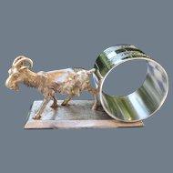 Antique Meriden Co Silverplate Goat Napkin Ring